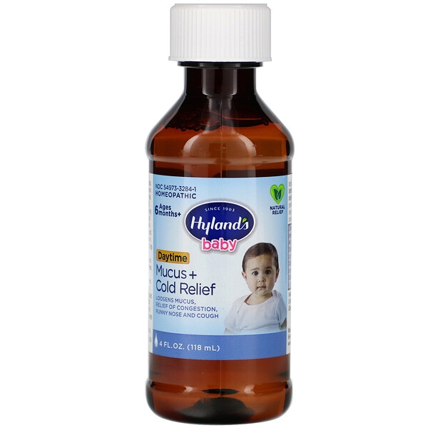 Baby, Mucus + Cold Relief Day Time, Ages 6 Months +, 4 fl oz (118 ml)