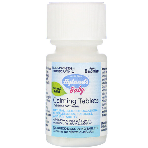 Baby, Calming Tablets, Ages 6 Months+,  125 Quick-Dissolving Tablets