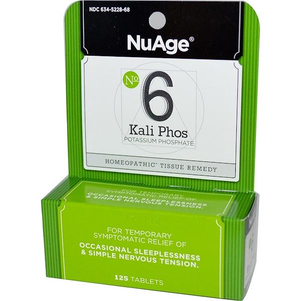 Hyland's, NuAge, № 6 Kali Phos (фосфат калия), 125 таблеток (Discontinued Item)