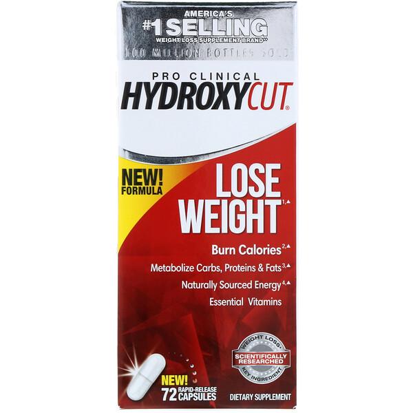 Pro Clinical Hydroxycut, для похудения, 72 капсулы с быстрым высвобождением