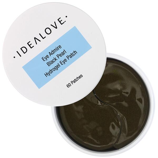 Idealove, Гидрогелевые патчи для глаз с черным жемчугом, 60 патчей