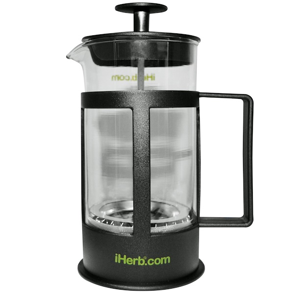 iHerb Goods, Френч-пресс для кофе и чая, 1 Coffee/Tea Press, 12 fl oz (350 ml) (Discontinued Item)
