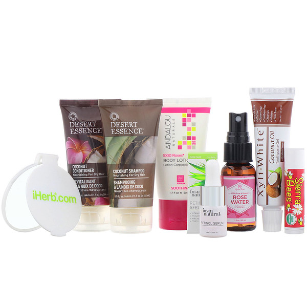 iHerb Goods, Health, Beauty & Wellness Trial Bag, 8 Pieces