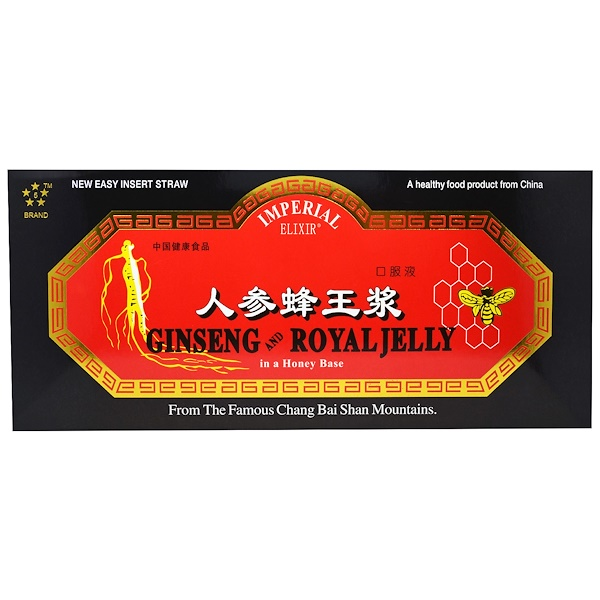 Ginseng & Royal Jelly, 10 Bottles, 0.34 fl oz (10 ml) Each