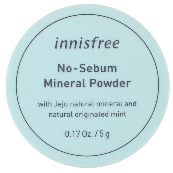 Innisfree, Матирующая минеральная пудра, 5г (0,17унции)