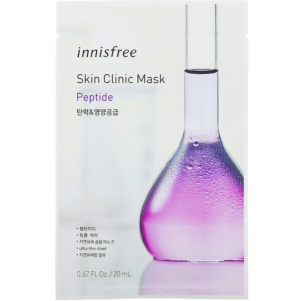Innisfree, Skin Clinic Mask, Peptide, 1 Sheet, 0.67 fl oz (20 ml) (Discontinued Item)