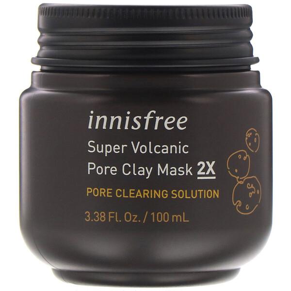 Innisfree, Очищающая маска из вулканической глины двойного действия, 100мл