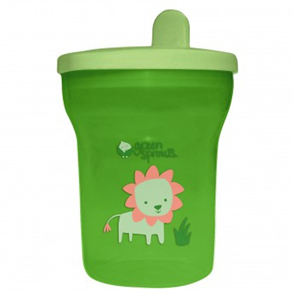 i play Inc., Green Sprouts, Green Sippy Tumbler, 12-24+ Months, 7 oz (200 ml) (Discontinued Item)