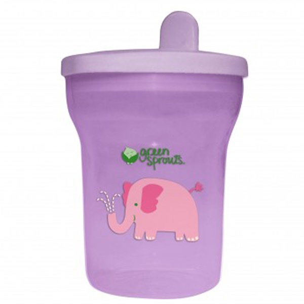 i play Inc., Green Sprouts, Lavender Sippy Tumbler, 12-24+ Months, 7 oz (200 ml) (Discontinued Item)