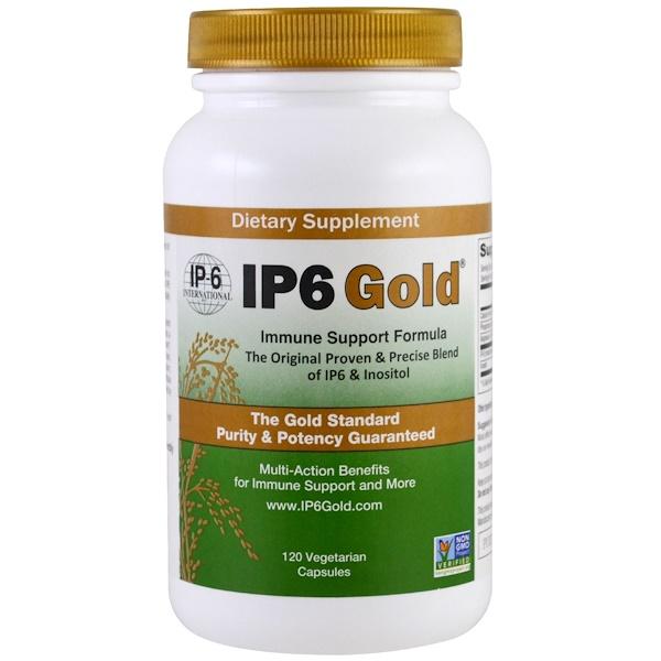 Порошок IP6 Gold, формула иммунной поддержки, 120 растительных капсул