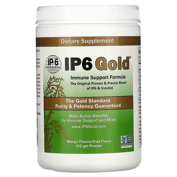 IP6 Gold, Immune Support Formula Powder, Mango Passionfruit Flavor, 412 gm