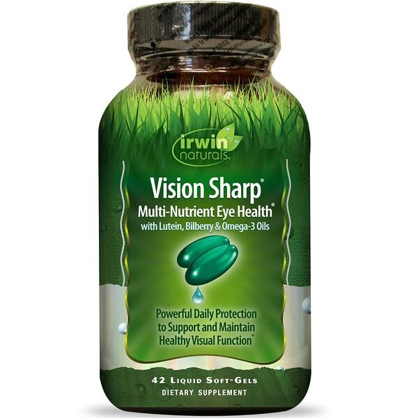 Vision Sharp, комплексная питательная добавка для здоровых глаз, 42 мягкие желатиновые капсулы с жидкостью