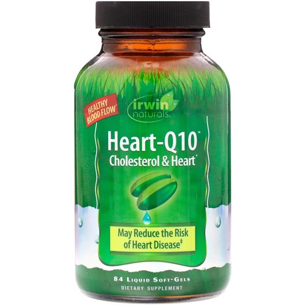 Heart-Q10, холестерин и сердце, 84 мягкие желатиновые капсулы с жидкостью