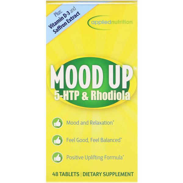 appliednutrition, Взбодрись, 5-гидрокситриптофан и родиола, 48 таблеток (Discontinued Item)