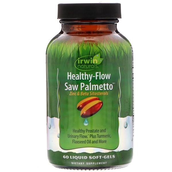 Irwin Naturals, Healthy Flow Saw Palmetto, 60 Liquid Soft-Gels (Discontinued Item)