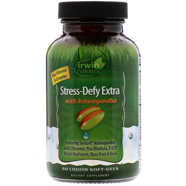 Irwin Naturals, Stress-Defy Extra with Ashwagandha , 60 Liquid Soft-Gels (Discontinued Item)