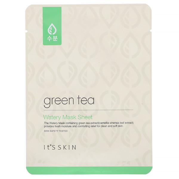 Green Tea, Watery Mask Sheet, 1 Sheet, 17 g