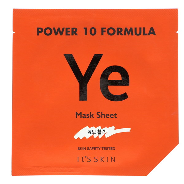 It's Skin, Power 10 Formula, YE Mask Sheet, Vitality, 1 Sheet, 25 ml  (Discontinued Item)