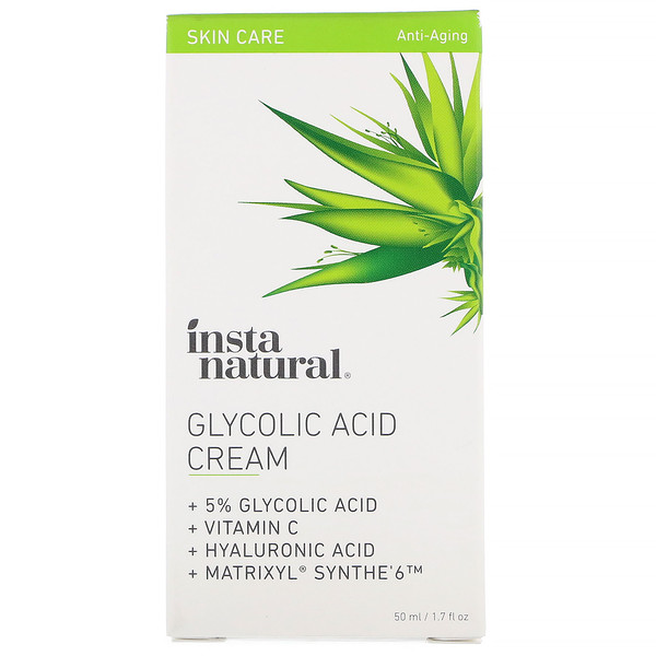 InstaNatural, 5% Glycolic Acid Night Cream, Anti-Aging, 1.7 fl oz (50 ml)