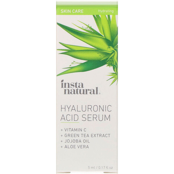 InstaNatural, Hyaluronic Acid Serum with Vitamin C, 0.17 fl oz (5 ml) (Discontinued Item)