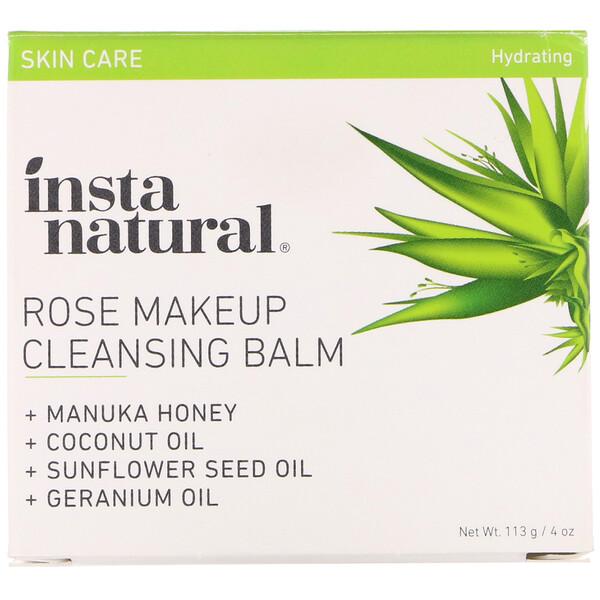 InstaNatural, Rose Makeup Cleansing Balm, 4 oz (113 g) (Discontinued Item)