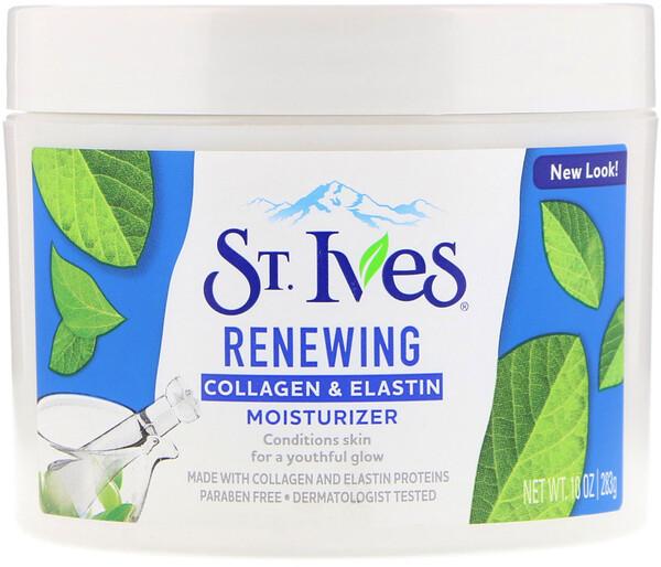 St. Ives, восстанавливающий увлажняющий крем с коллагеном и эластином, 283 г (10 унций)
