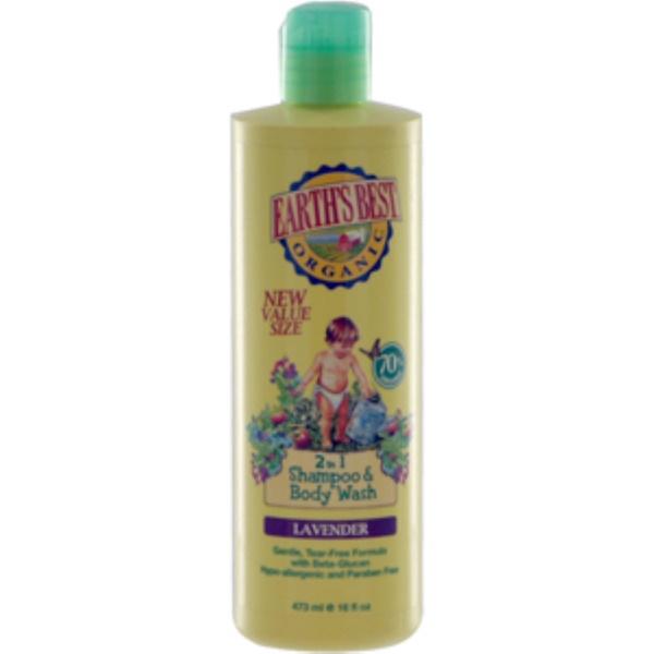 Earth's Best, 2 in 1 Shampoo & Body Wash, Lavender, 16 fl oz (473 ml) (Discontinued Item)