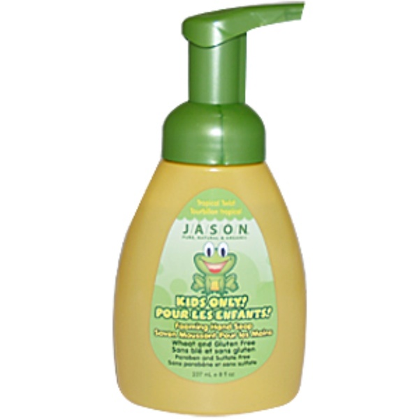 Jason Natural, Kids Only! Foaming Hand Soap, Tropical Twist, 8 fl oz (237 ml) (Discontinued Item)