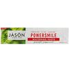 Джэйсон Нэчуралс, PowerSmile, отбеливающая зубная паста, перечная мята, 170г (6унций)