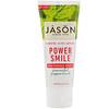 Jason Natural, Power Smile, отбеливающая паста, мощная перечная мята, 85 г (3 унции)