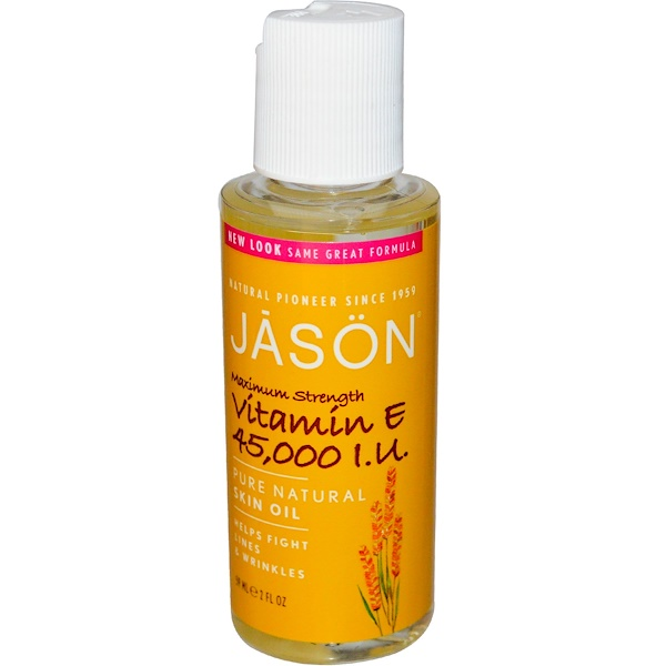 Чистое натуральное масло для кожи, максимально эффективный витамин Е, 45 000 МЕ, 59 мл (2 жидких унции)