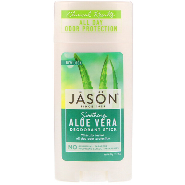 Натуральный успокаивающий дезодорант-стик с  алоэ вера, 2.5 унций (71 г)