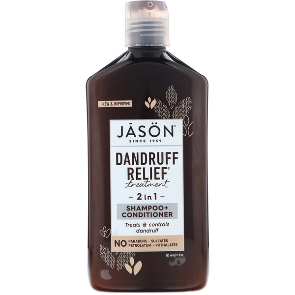 Jason Natural, Dandruff Relief, лечебно-профилактический шампунь и кондиционер «2в1», 355мл (12жидк.унций)