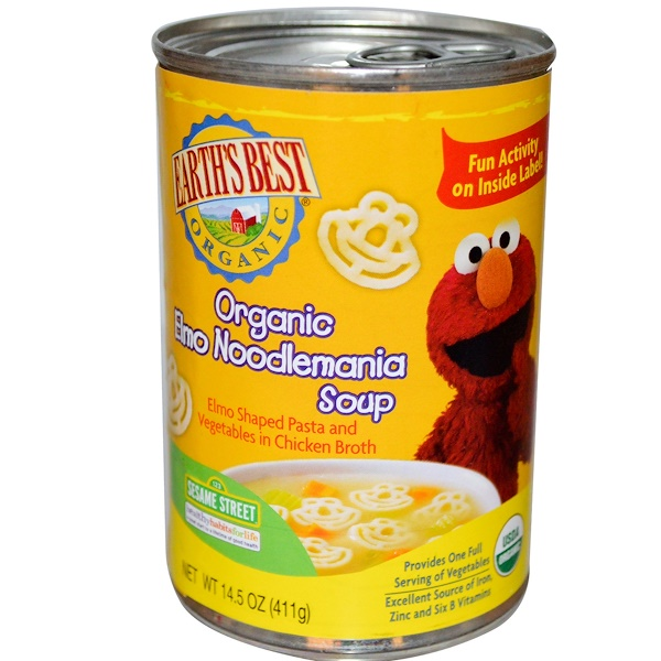 Earth's Best, Organic Elmo Noodlemania Soup, 14.5 oz (411 g) (Discontinued Item)
