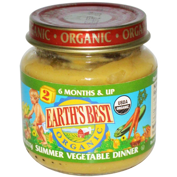 Earth's Best, Summer Vegetable Dinner, Baby Food, 4 oz (113 g) (Discontinued Item)