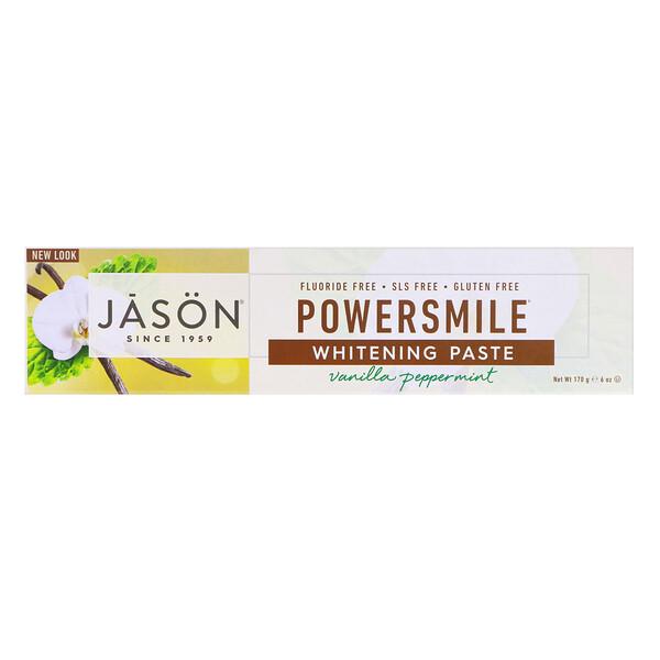Powersmile, отбеливающая зубная паста от зубного налета, со вкусом ванили и мяты, 170г (6унций)