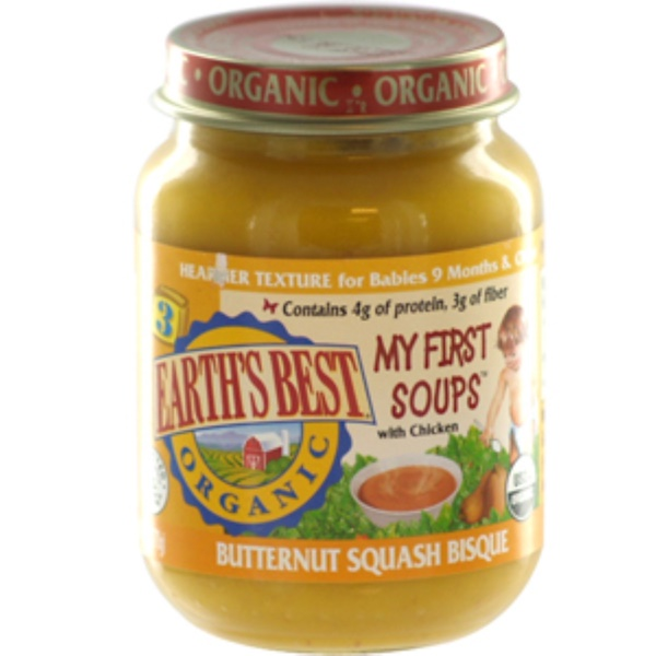 Earth's Best, Organic, Baby Food, Butternut Squash Bisque, 6 oz (170 g) (Discontinued Item)