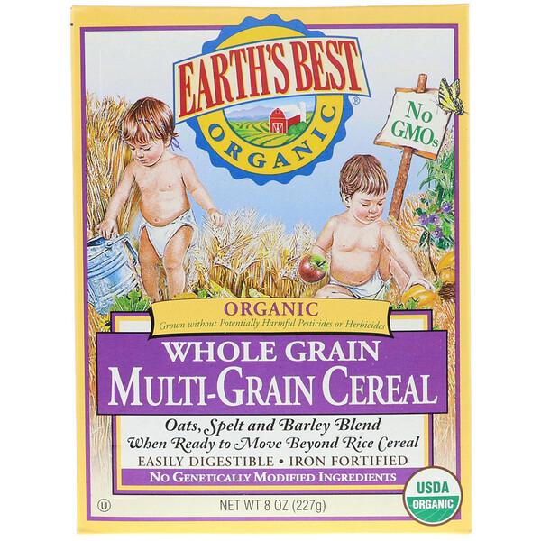 Earth's Best, Органическая многозерновая каша из цельного зерна, 227 г (8 унций)