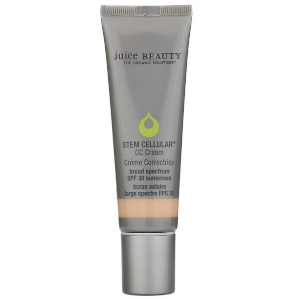 Juice Beauty, Stem Cellular, CC Cream, Creme Correctrice, SPF 30, Desert Glow, 1.7 fl oz (50 ml) (Discontinued Item)