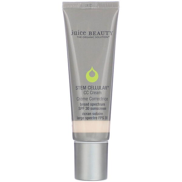Juice Beauty, Stem Cellular, CC Cream, Creme Correctrice, Natural Glow, SPF 30, 1.7 fl oz (50 ml) (Discontinued Item)