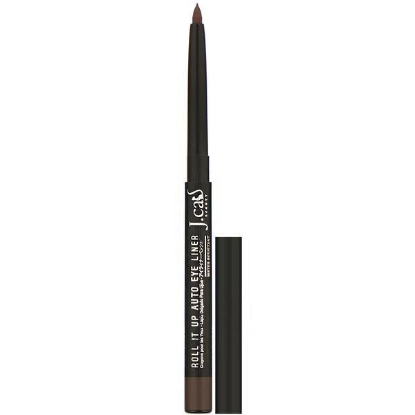 J.Cat Beauty, Roll It Up, автоматический карандаш для глаз, оттенок RAE107 коричневый, 0,3г