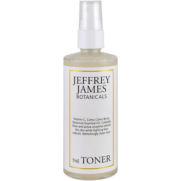 Jeffrey James Botanicals, Тоник, освежающий чистящий аэрозоль, 4 унции (118 мл)