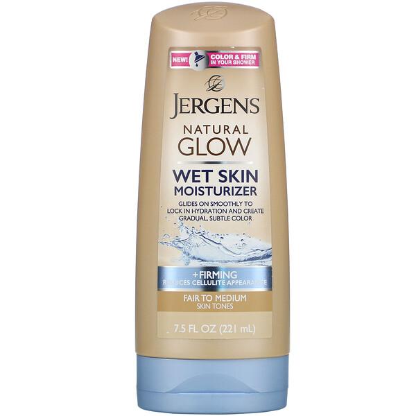 Natural Glow, увлажняющее средство для нанесения на влажную кожу, придает упругость, для светлых и средних тонов кожи, 221мл