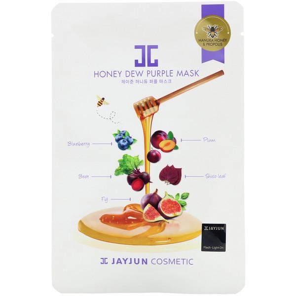 Jayjun Cosmetic, Honey Dew Purple Mask, 1 Sheet, 25 ml
