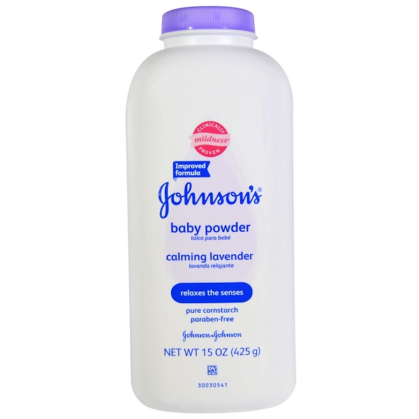 Johnson & Johnson, Детская присыпка, успокаивающая лаванда, 425 г (15 унций) (Discontinued Item)