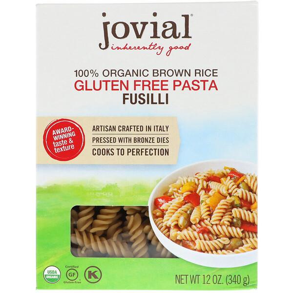 Макароны фузилли из 100% органического бурого риса, 12 унц. (340 г)