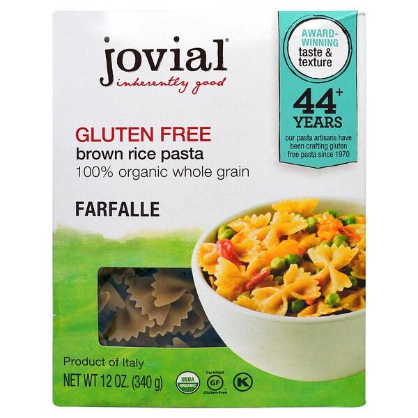 Jovial, Органическая паста (макаронные изделия) из коричневого риса, фарфалле, 12 унций (340 г)