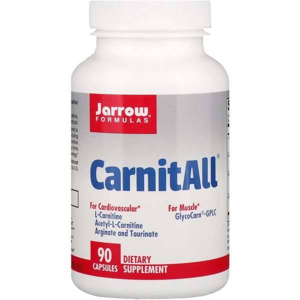Jarrow Formulas, CarnitAll, 90 капсул (Discontinued Item)