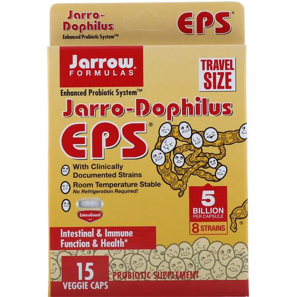 Jarrow Formulas, Jarro-Dophilus EPS, 5млрд клеток, 15растительных капсул