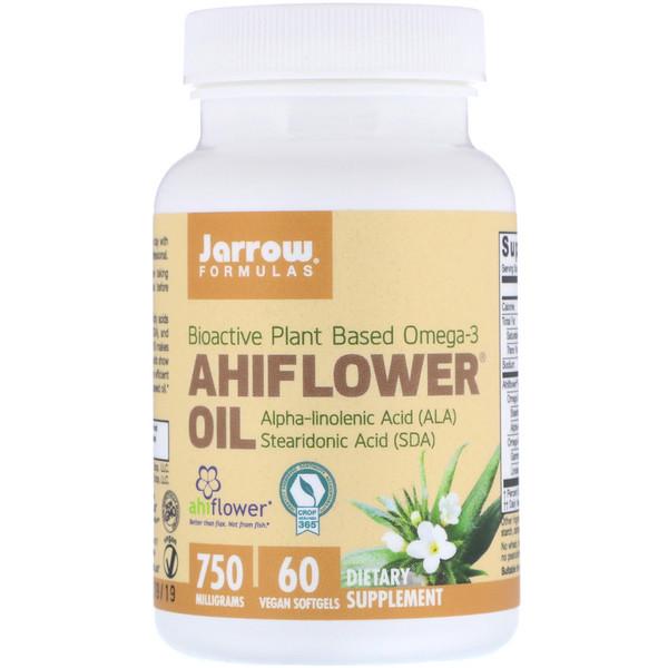 Ahiflower Oil, 750 mg, 60 Vegan Softgels